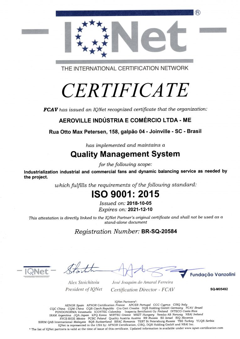 IQNET CERTIFICATE ISO 9001-2015 jpeg